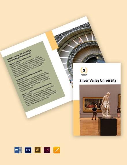 Bi-Fold University Studies Brochure Template