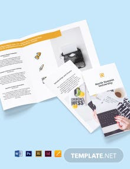 Free Elegant Tri-Fold University Brochure Template