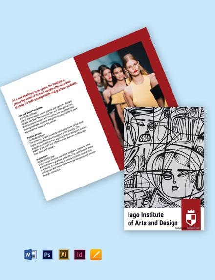 Free Elegant Bi-Fold University Brochure Template