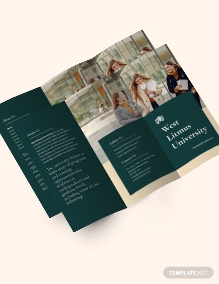 Free Simple Trifold University Brochure Template Sample