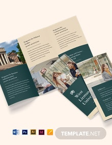 Free Simple Tri-Fold University Brochure Template