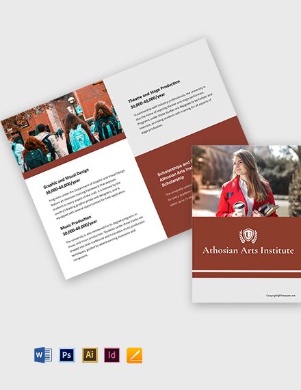 Free Simple Bi-Fold University Brochure Template