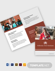 Free Simple Bi-Fold University Brochure Template