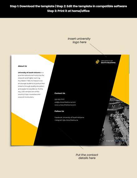 Free Creative Trifold University Brochure Guide