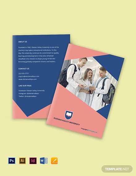 Free Creative Bi-Fold University Brochure Template