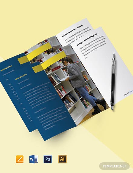 Free Modern Tri-Fold University Brochure Template
