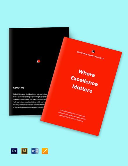 Free Modern Bi-Fold University Brochure Template