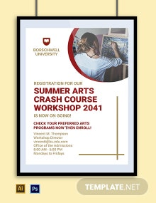 University Course Poster Template