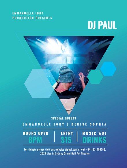 DJ Concert Poster Template