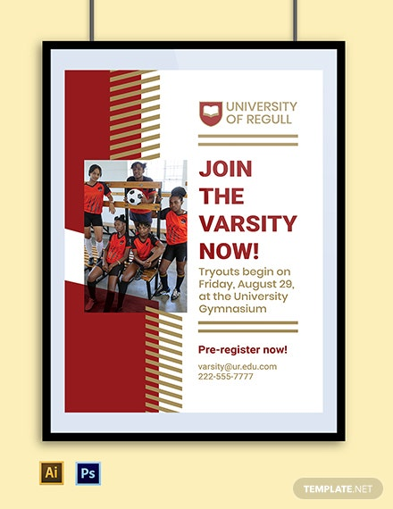 University Sports Poster Template