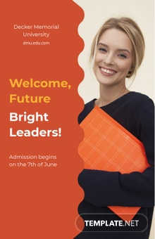University Admission Open Poster Template
