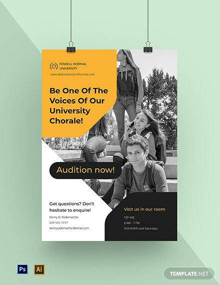 University Campus Poster Template