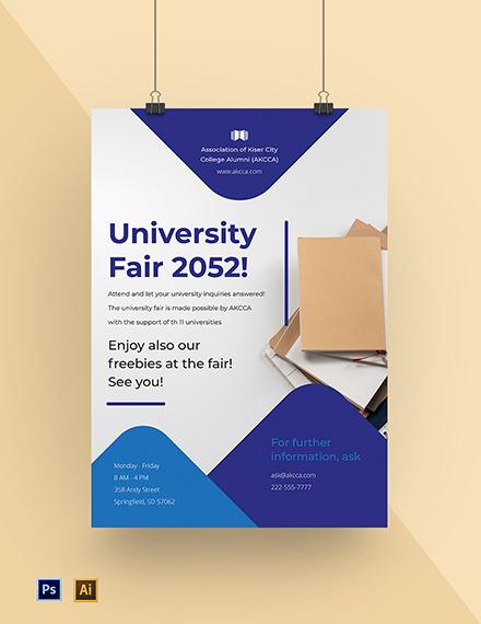 University Fair Poster Template