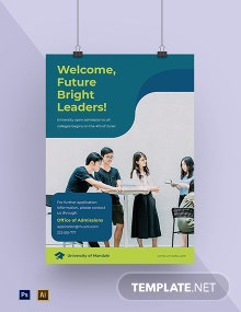 University Application Poster Template
