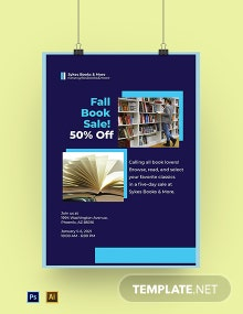 University Book Store Poster Template