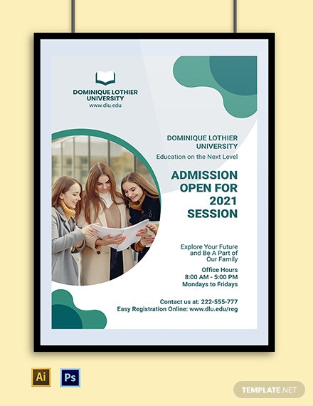 University Admission Poster Template