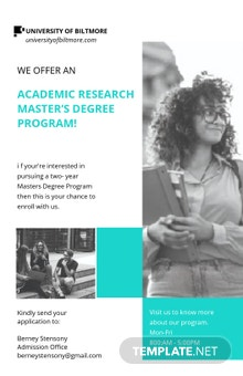 University Academic Research Poster Template