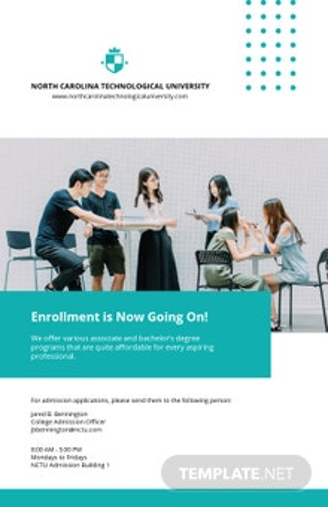 Free Sample University Poster Template