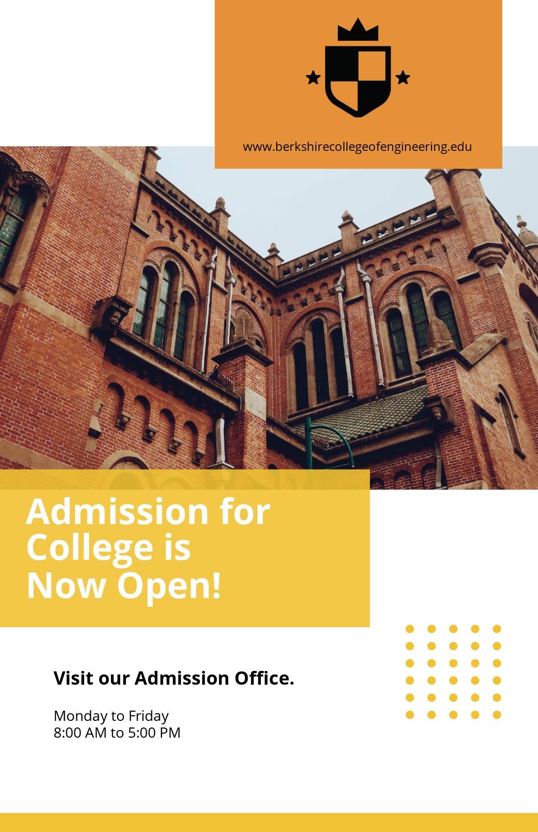 Free Modern University Poster Template.jpe