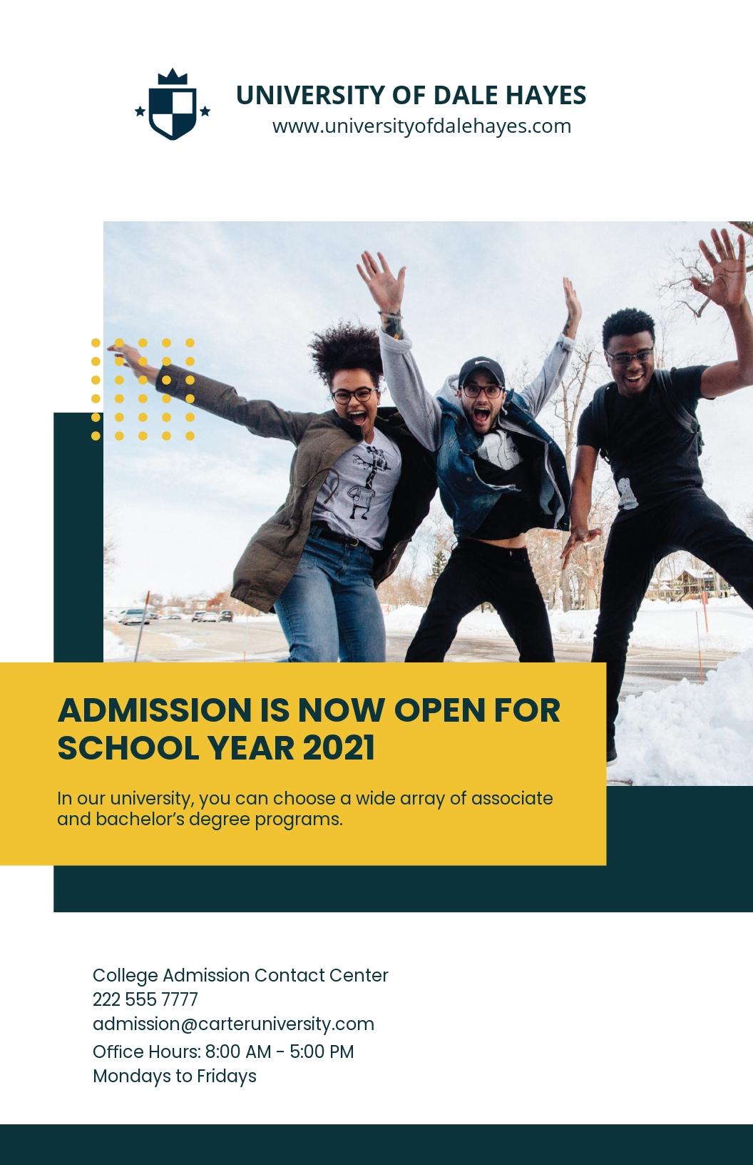 Free Creative University Poster Template.jpe