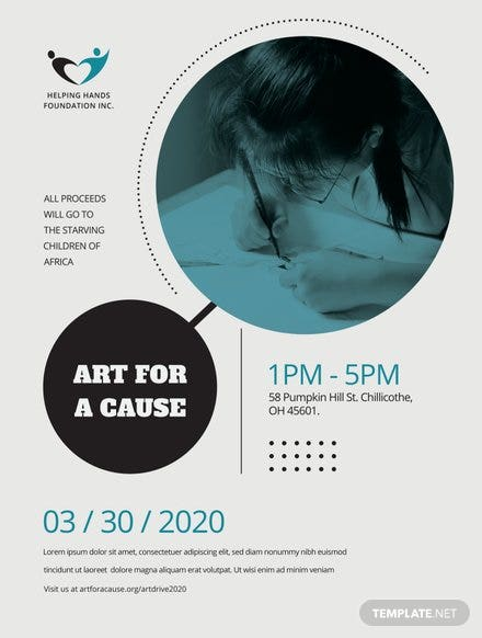 Fund Raising Event Poster Template