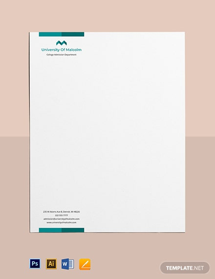 College and Department Letterhead Template
