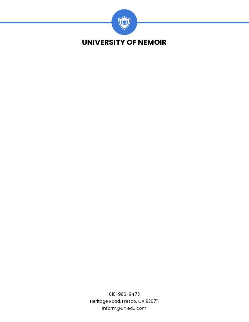 Modern University Letterhead Template.jpe