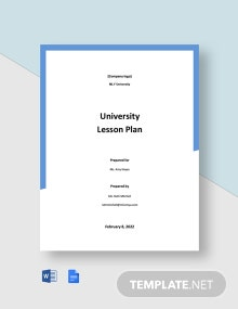 University Lesson Plan Template