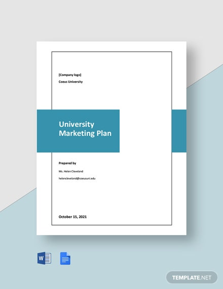 Editable University Marketing Plan Template