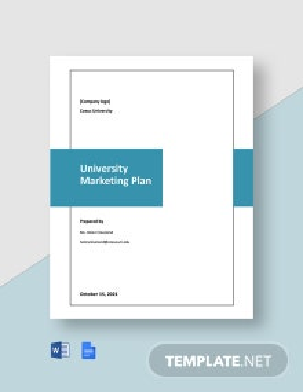 Editable University Marketing Plan Template