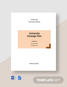 Editable University Strategic Plan Template