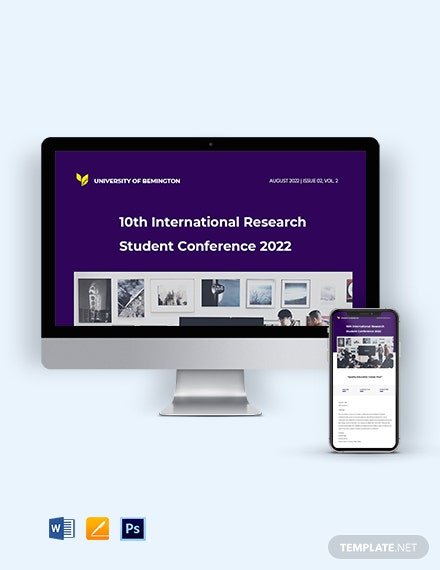 University Research Newsletter Template