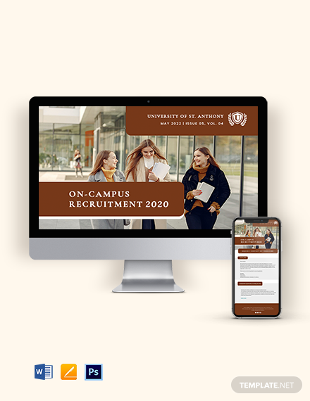 University Campus Newsletter Template