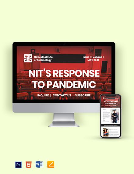 Free Sample University Newsletter Template