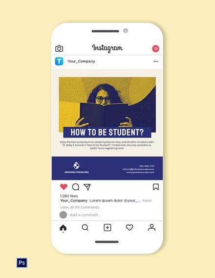 University Instagram Post Template