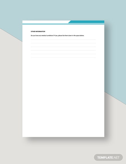 College Application Form Template