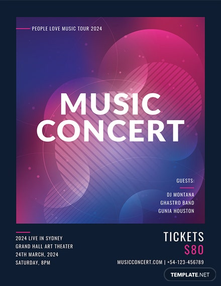 Free Music Concert Poster Template