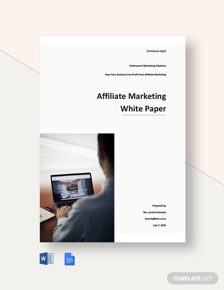 Affiliate Marketing White Paper Template