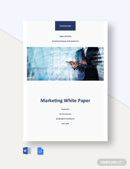 Free Sample Marketing White Paper Template