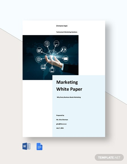 Free Simple Marketing White Paper Template