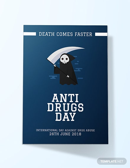 Free Anti Drug Day Card