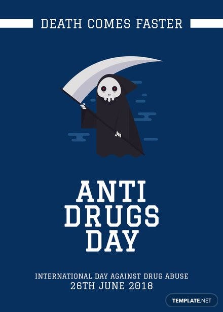Anti Drug Day Card