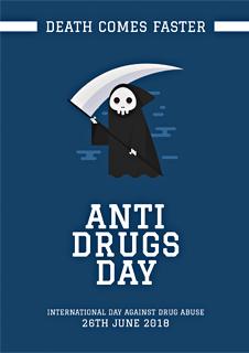 Anti Drug Day Card