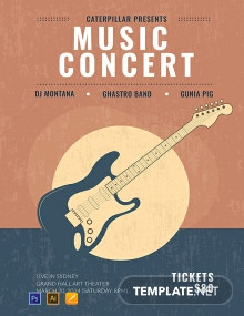 Free Live Music Concert Poster Template