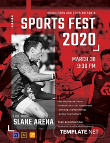 Free Sports Event Poster Template