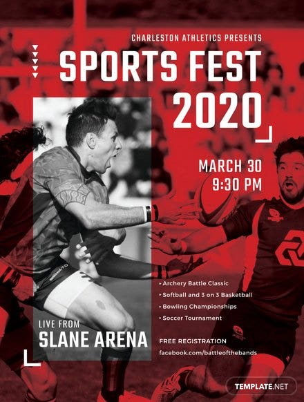 Sports Event Poster Template
