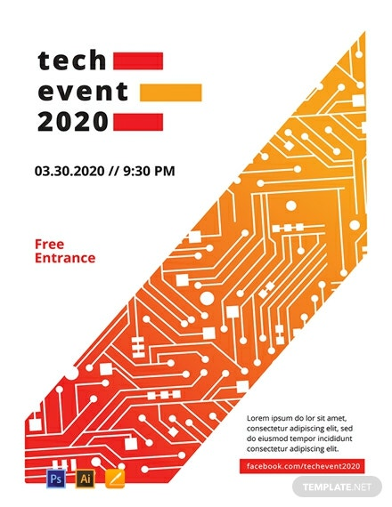 Free Tech Event Poster Template
