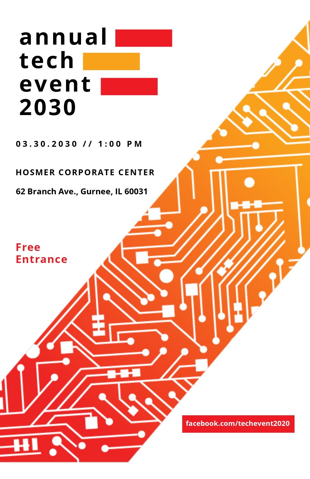 Tech Event Poster Template