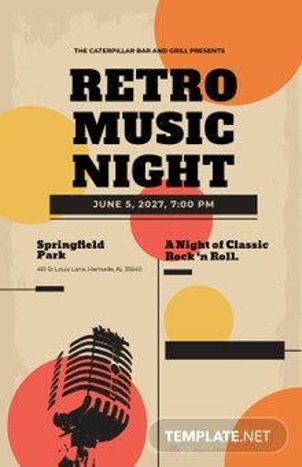 Free Vintage Concert Poster Template