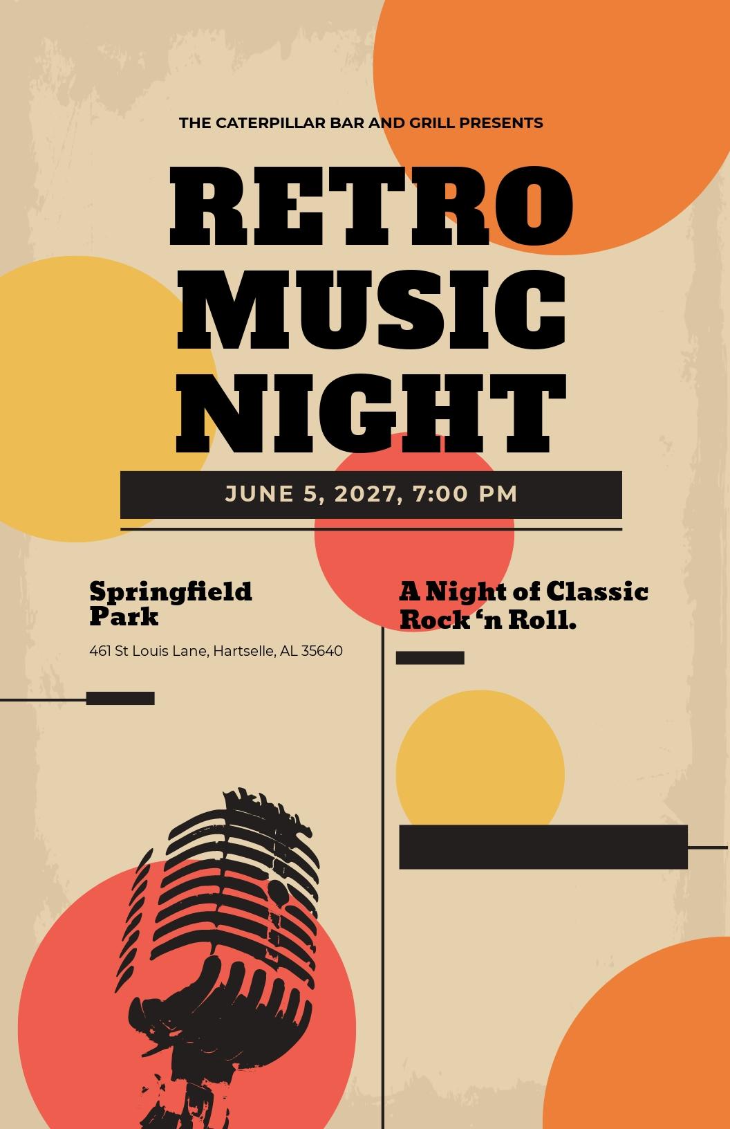 Vintage Concert Poster Template